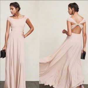 Ecru Open Back Sera Dress by Reformation, S